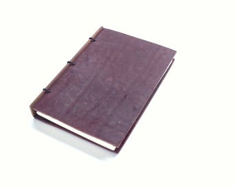 Purple Leather Journal, Leather Notebook, Gift for Writer, Refillable Journal, Leather Sketchbook, Leather Travel Notebook - 4x6