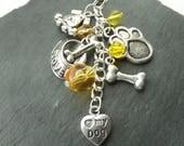Dog lover bag charm - dog gift -  puppy gift - dog lover gift - gift for a dog owner - dog walker gift - animal gift - animal jewellery