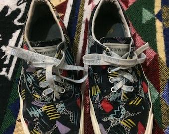 Vintage 1980s Converse Blue Label Low-Top Shoe Size 9.5 Mens