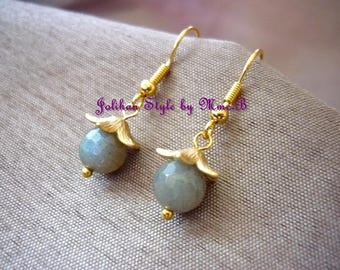 "labradorite ""Protection"" - Fleur earrings"