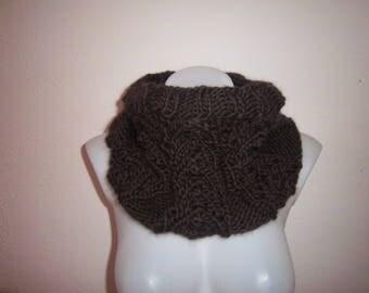 Neck wool natural (dark brown)