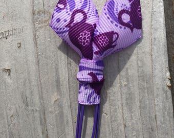 Alice in Wonderland Inspired Tea Cup Purple Tails Planner Clip