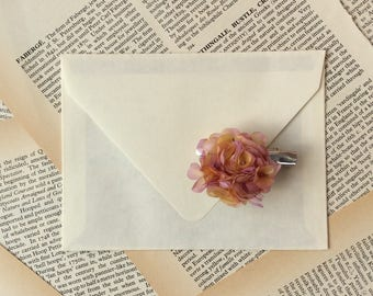 Silk flower brooch-barrette 'Petals&Poems'