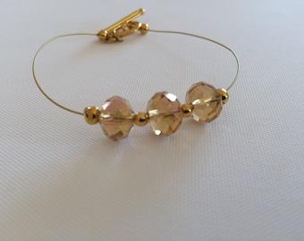 Champagne crystal bracelet