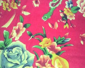 Traditional Chinese Red serise LAO fabric HUA 10 m