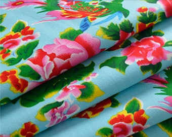 Light blue Chinese traditional fabrics 5 m