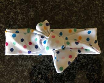The Riley Baby Knot Headband - Polka Dots