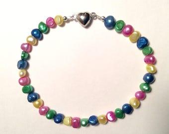 Pearl collar, cat collar, small dog collar, beaded collar