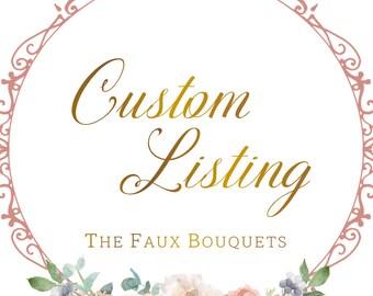 Custom Listing for Marissa - IN PROGRESS