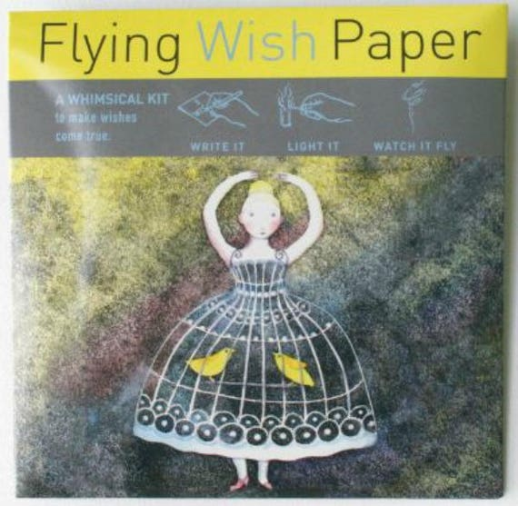 Flying Wish Paper - ballerina design - package of 15 wishes, make a wish