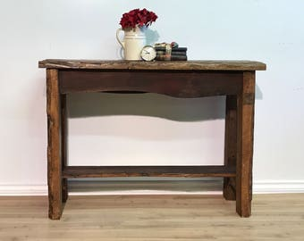 Live Edge Sofa/Console Table