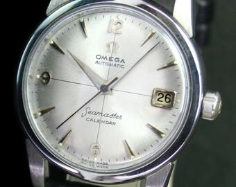 1956s Omega Seamaster Calendar Automatic Date Steel Mens Vintage Watch - 143