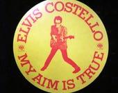 One Vintage Elvis COSTELLO My AIM is TRUE Sticker