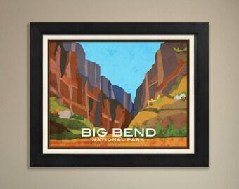 Big Bend Framed National Park Print