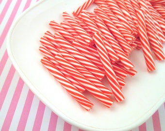 Polymer Clay Peppermint Swirl Candy Canes, Cute Fake Sweets, #249