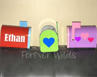 Valentines Day Mailbox - Personalized with name. Valentines kids mailbox gift with name - Valentine's day mailbox - Valentine's day gift