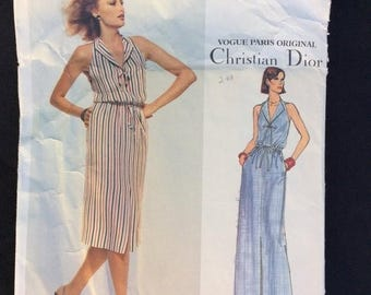 Christian Dior, Vogue Paris Original, Pattern 1648 , Vintage Pattern, Sewing Pattern, Vintage Dress, Size 14