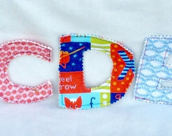 Quilted fabric alphabet