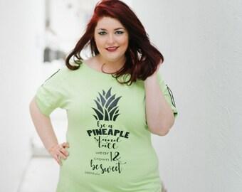 Plus Size Tee, Plus Size Summer Tee, Tropical Tee, Feminist Shirt, Oversized T-Shirt, Pineapple T- Shirt, Women T- Shirt, Feminist Tee Shirt