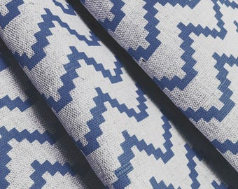 Geometric Curtains- Made to Measure - Navy Curtains -Zig Cobalt- Scandi- Blue Curtains- Zig Zag Curtains- Geometric Curtains- Boys Room