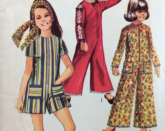 Simplicity 8569 girls jumpsuit size 7 vintage 1960's sewing pattern