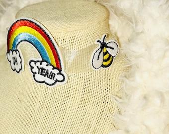 Retro 90's Theme Rainbow Pop Culture Choker Necklace