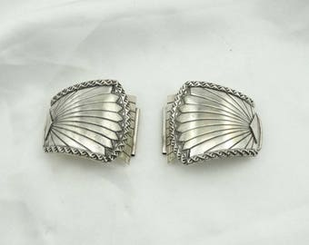 Large Size Collectable Southwest Navajo Native American Sterling Silver Watch Band Side Pieces #LGWATCH-UV3