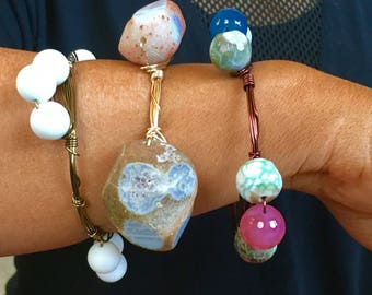 Statement Stone Beaded Bracelets