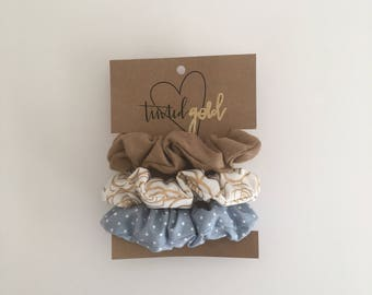 Suede Leather Scrunchies