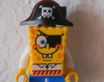 CUSTOM Christmas MINI Ornament Made From LEGO Pirate Spongebob Squarepants