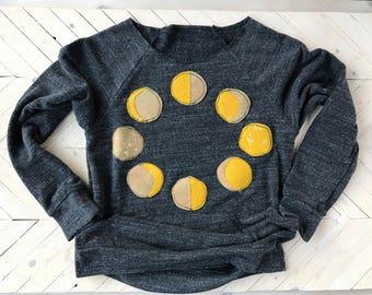 Moon sweater, moon phases, moon phases Sweater, moon art, slouchy shirt, slouchy sweatshirt, slouchy sweater, moon phase sweatshirt