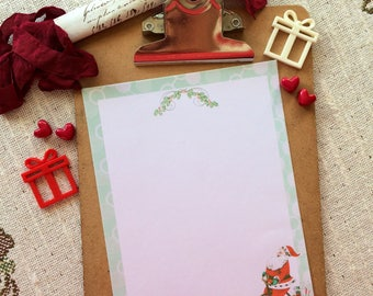 Penny Farthing Santa Writing Paper-Stationery-Note Paper