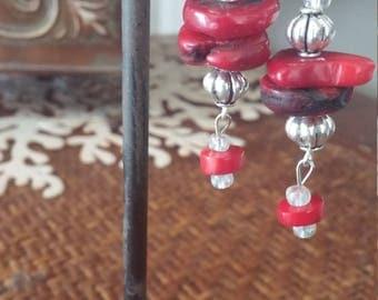 Geniune coral earrings
