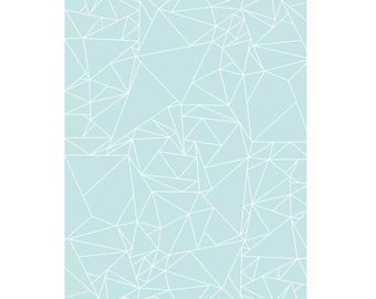 Graphic and blue wrapping sheet - made in France - Konstellation