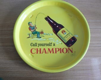 Rare and Superb Beer Tray, Advertising Greenall & Whiteley Champion Pale Ale.