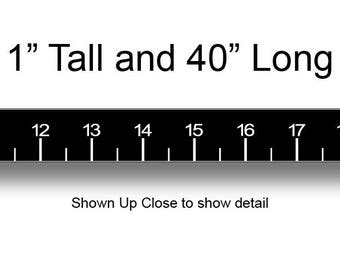 Black Sticky 40 Inch Ruler Self Adhesive Sticker for Fishing Fish Boat Boating and more.