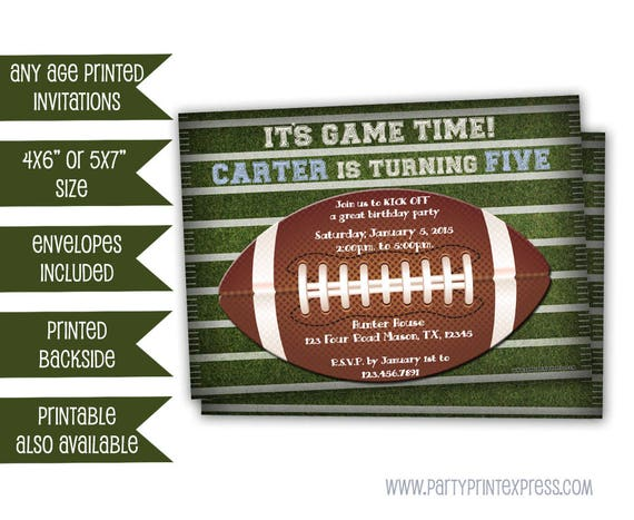 football invitation football birthday invitations football party