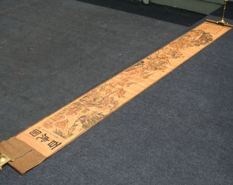 Absolutely Stunning Bengal Tiger antique Chinese Scroll very impressive and quite long.