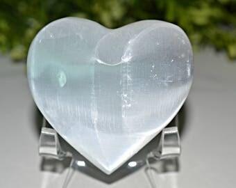 Selenite Heart 63 MM