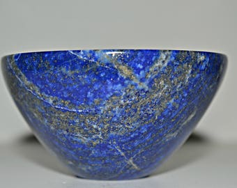 Natural Lapis Lazuli Hand Carved Gemtone Bowl