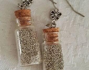 Earrings * bottle has the Sea * 4 cm