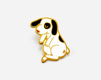 Floating Dog Enamel Pin