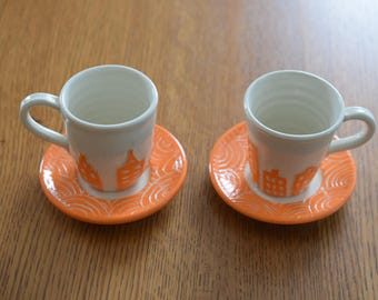 City on the Water: Cup & Saucer