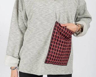 Sweatshirt MoD. Saffron/Light grey melange