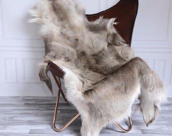 Reindeer Hide | Reindeer Rug | Reindeer Skin | Throw XL Large - Scandinavian Style #15RE15
