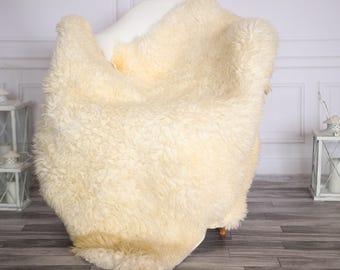 Gotland Sheepskin Rug | Curly fur Rug | Curly Sheepskin Rug | Curly Sheepskin | Christmas Decor | GOTNOVHER28
