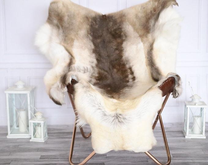 Reindeer Hide | Reindeer Rug | Reindeer Skin | XL EXTRA large  Throw Large - Scandinavian Style #19RE26
