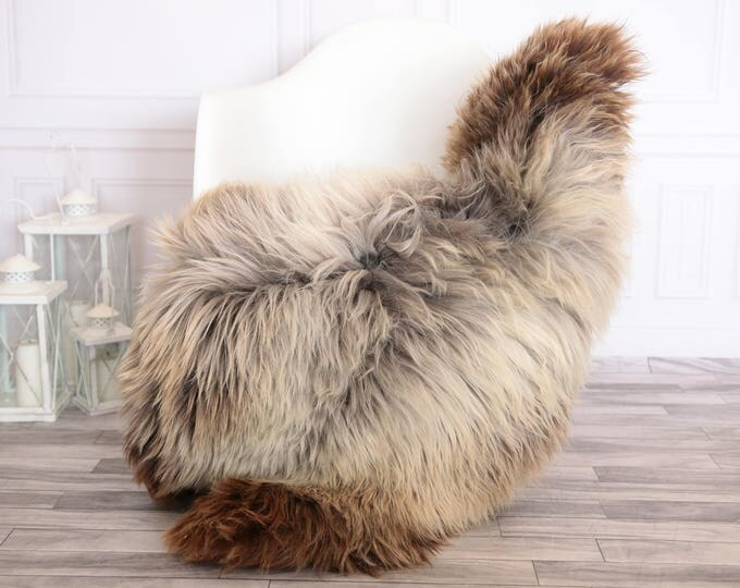 Sheepskin Rug | Real Sheepskin Rug | Shaggy Rug | Scandinavian Rug | | SCANDINAVIAN DECOR | Brown Sheepskin  #FEBHER2