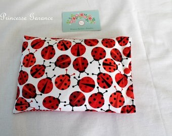 Heating pad with cotton, organic flax seeds, ladybugs, in STOCK
