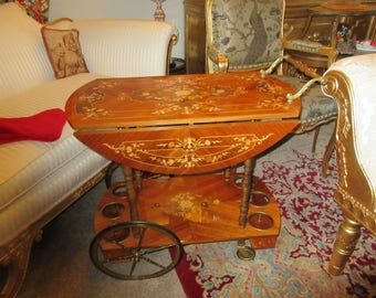 ITALY INLAID BAR Cart